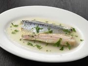 健康志向の方にお勧め。魚介の前菜はこのほか手長エビのグリル、穴子のフリット、本日のカルパッチョなどをご用意。