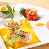 海鮮を存分に味わえるコース料理の一品『前菜』