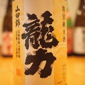 全国各地から取り寄せている、うまい日本酒の数々