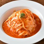 とろけるチーズのピリ辛トマトソース