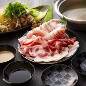 大満足の『イブ美豚しゃぶしゃぶ食べ放題コース』