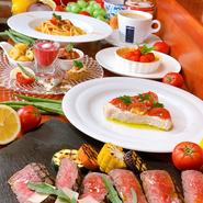 シェフお任せの全6品(前菜、パスタ、魚料理、肉料理、ドルチェ、カフェ)のコース料理があります。2日前までにご予約、2名様より。今だけスプマンテ(グラス)をプレゼント。ペアリングワインも別途あります。
