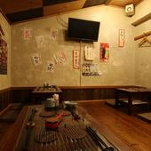 昭和レトロを感じる懐かしい雰囲気の店内