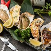 焼き牡蠣5種食べ比べ