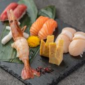 贅沢寿司七貫盛り合わせ