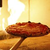 石窯焼きのピッツァマルゲリータ