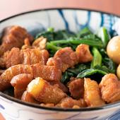 皮付き豚バラ肉がジューシーな『魯肉飯』