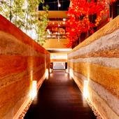 京都の小路を歩いているような気分になれるエントランス