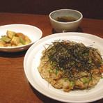 スープと一品がついたランチ限定玄米チャーハンセットは1000円