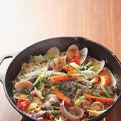 有機野菜とあさりの煮込みはグリルかアクアパッツァで2200円