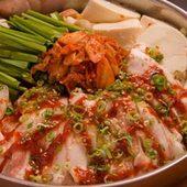 最後にラーメンが付くオモニのシジャン鍋 韓式ちゃんこ風