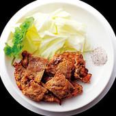 一見重そうな豚天もカラッと腹に軽い。豚の天ぷら800円