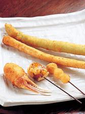 串に合わせる調味料は、岩塩や自家製マヨネーズなど全4種類