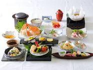 四季の食材に彩られた会席を召し上がりください。