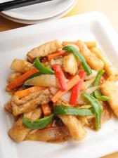 白身の五種野菜炒め