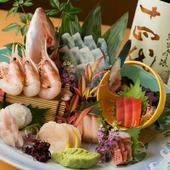 季節の新鮮な魚介類が楽しめる