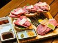 神戸ビーフの特選みすじをはじめ希少部位を盛り合わせています。