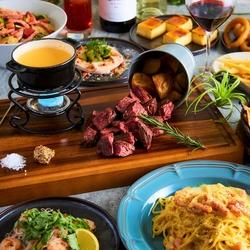 自家製チーズフォンデュ&ローストビーフ食べ放題付き9品で2980円コスパ最強!