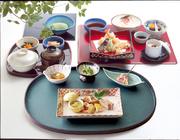 前菜/お造り/サラダ/茶碗蒸し/天ぷら盛合せ/御飯/香乃物/お椀/佃煮/季節のアイス