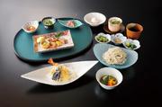 前菜/煮物/茶碗蒸し/へぎ蕎麦/天ぷら/季節のアイス