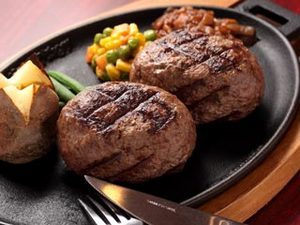 ダブルハンバーグステーキ ※Rセット