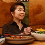 季節の食材を用い、さまざまなジャンルの料理でご提供