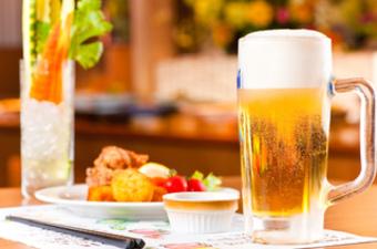 お昼からたくさんの種類のお酒を飲みたい! という方におすすめ  ランチビュッフェ(無制限)+90分飲み放題