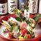 鮮度抜群の美味しい刺身と日本酒で今宵も楽しむ。