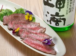 日本酒や焼酎など和酒との相性も抜群『ローストビーフ』