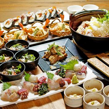 鍋+お料理7品・3000円コース【+1800円で、150分飲み放題付】