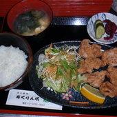大山鶏 唐揚げ定食