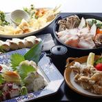 その日その日の季節の旬を味わうお得な鮮魚フルコース。
