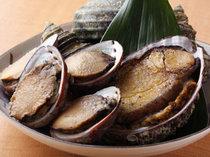 地元産の貝類(流れ子・アワビ・サザエ)
