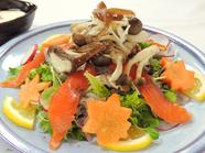 旬野菜たっぷり 季節の彩りサラダ 手づくり梅ドレッシング