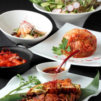ヨンドンオリジナル韓国料理コース 4000円(飲放付5500円~)
