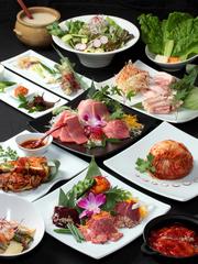 これぞヨンドン一押しのコース! その日入ったばかりの厳選和牛と人気のある韓国料理が堪能できます!