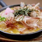 伝統の山芋鉄板焼き(お好み焼き風orしょうゆ)