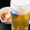 お疲れ様です。まずはビールで乾杯!