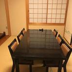 2階の6人掛けの個室(和室)です。