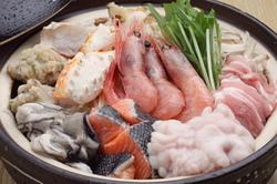 あんこう尽くし!あん肝、唐揚も美味。 鍋はあっさり正油仕立てで、『七つ道具』全てが味わえます。