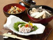 津軽の郷土料理(たつ刺、けの汁、じゃっぱ汁)