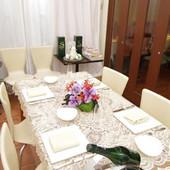 サンルームはプライベートルームとして、接待や会食に最適!