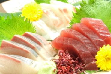 近海鮮魚のお刺身五点盛り