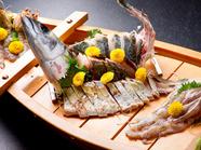 <Aruji>におまかせ その日に水揚げされた島魚のコース