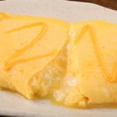 玉子にもこだわり、北海道産チーズと合わせた種類豊富な「オムレツ」