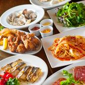 サラダからアラカルトにパスタ、メイン料理までそろえたスタンダードコースです。