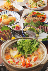 『とうちゃん』オススメが盛りだくさんのコース!高知県産の食材をふんだんに使った内容です。