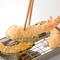 一つ一つ揚げたての天ぷらが楽しめます。