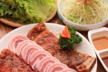 豚盛り(サムギョプサル、デジカルビ、コチュジャンカルビ)