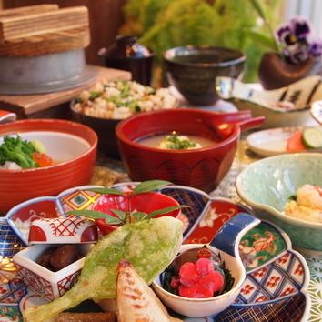 《弥生》葵(あおい)◆鱈、春野菜など旬味覚満載の一番人気コース